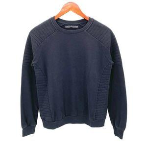 All Saints Spitalfields Black Ribbed Sweatshirt 4